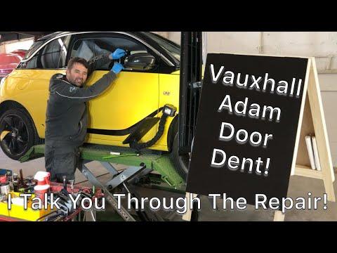 PDR Tech talks you through the repair process –  VAUXHALL ADAM DOOR DENT