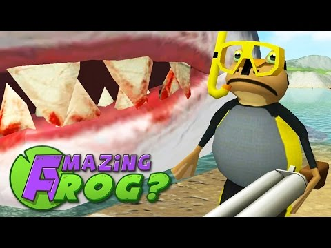 Amazing Frog - CAN I KILL THE GIANT SHARK? - PC Gameplay Part 20