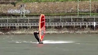 Windsurfing the cold - Rhine River 01-2016