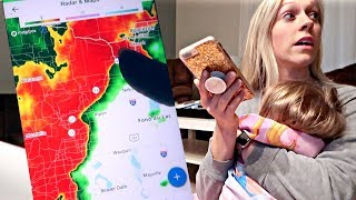 TORNADO WARNING AND FLOODING | Nursing Student Mom Day in the Life Vlog
