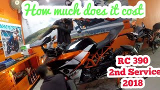 ktm Rc 390  service 2018 | 2nd Service | service cost of KTM Rc 390