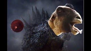 Godzilla roars....BUT...Goat screams