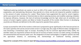 Smart Irrigation Market 2020: Future Trends, Key Players Till 2027