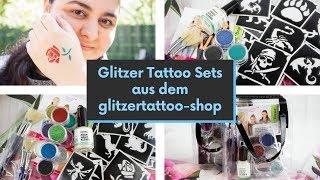 Glitzer Tattoo Sets aus dem glitzertattoo-shop   Wunderbare Glitzer Tattoos, so geht's