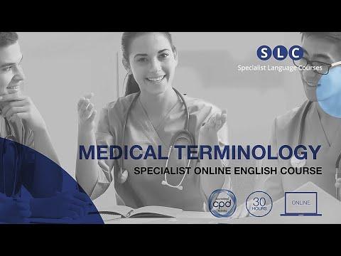 Medical Terminology Online Course | Specialist Language Courses ...
