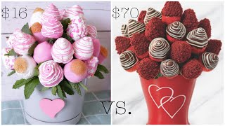 DIY Chocolate Covered Strawberries Arrangement - DIY Edible Arrangement
