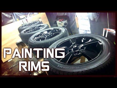Black Rim Job - Painting Rims + LEDs Mazda 3 VLOG