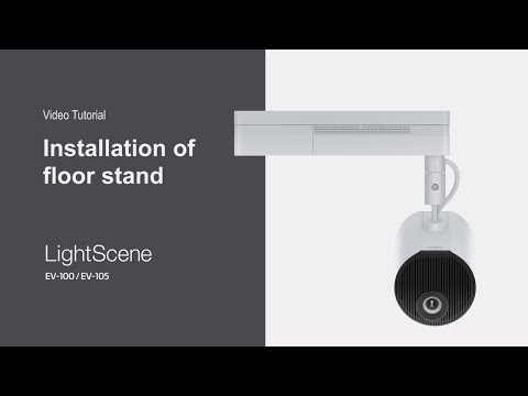 Installing LightScene EV-100 and EV-105 on a Floor Stand