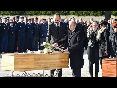 France: PM Edouard Philippe leads funerals for victims of Trèbes supermarket siege