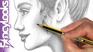 Cómo Dibujar Un Perfil De Mujer A Lápiz, Sin Copiar