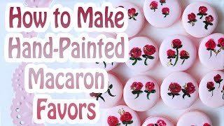 How To Make Hand-Painted Macaron Wedding Favors