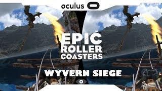 SBS 1080p► Epic Roller Coaster • Wyvern Siege • Samsung Gear VR Gameplay • Realidade Virtual