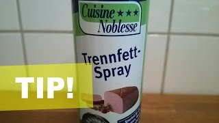 Back-Trennfettspray zum backen / grillen?