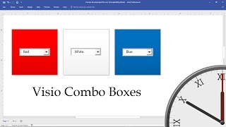 Visio Combo Boxes