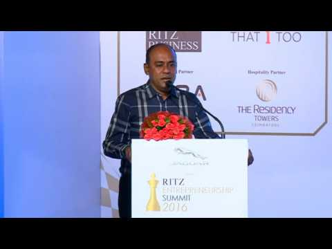 Rajesh Doraiswamy at Jaguar RITZ Entrepreneurship Summit 2016, Coimbatore