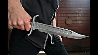 Casting a Aluminum Bowie Knife - Video Youtube