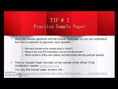 5 Tips for ITIL Foundation Exam (2018) - YouTube