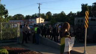 Daytime protests in Ferguson, MO August 13, 2014