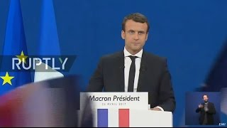 LIVE: French 2017 presidential elections - Macron's electoral night event