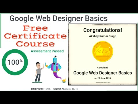 Google Web Designer Free Certificate Course | Google Free Online ...