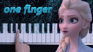 FROZEN 2 - Into the Unknown (Trailer Song) / one finger TOO EASY piano tutorial (melodica tutorial)
