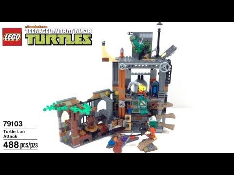 Vidéo LEGO Tortues Ninja 79103 : L'attaque du repaire des tortues