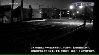 SecuSTATIONSC-831NH2243万画素カメラ夜間白黒サンプル映像