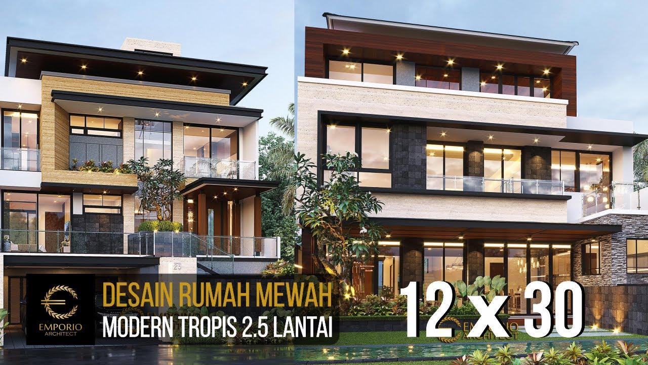 Video 3D Desain Rumah Modern 2.5 Lantai Bapak Novianto - Bandung, Jawa Barat