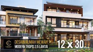 Video Desain Rumah Modern 2.5 Lantai Bapak Novianto di  Bandung, Jawa Barat