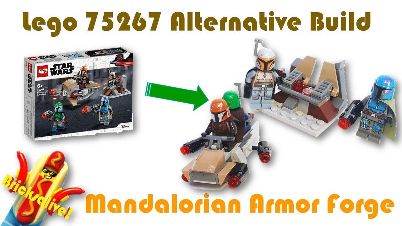 Lego Star Wars 75267 Alternative Build - Mandalorian Armour Forge! + Building Instructions!