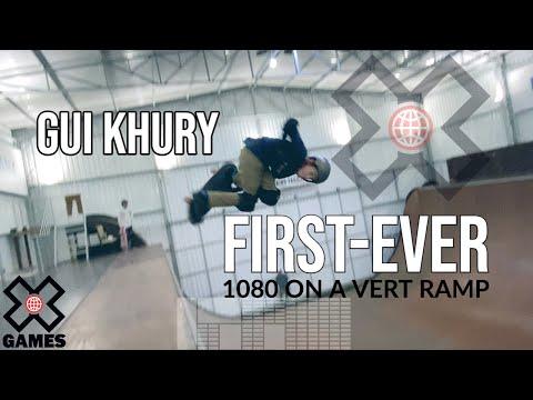 GUI KHURY: World's First Skateboarding 1080 on Vert!   World of X Games