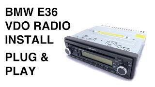 BMW E36 VDO Radio Installation (Plug & Play)
