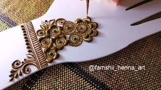 Easy And Basic Beginners Arabic Design || FamShii Henna.