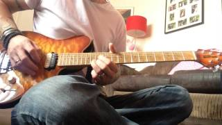 """The darkness - living each day blind """"solo cover"""""""