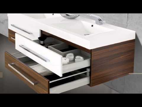 Badmöbel Set mit Waschbecken und Doppelwaschtisch 160 cm
