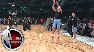 Lonzo Ball and Kyle Kuzma mimic each other's shots | NBA on ESPN