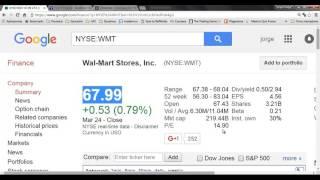 Acciones, Google Finance, Yahoo finance