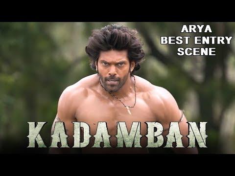 Arya's Dynamic Entry Scene in Kadamban   2018 Latest Hindi Dubbed Action Scenes
