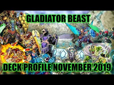 GLADIATOR BEAST DECK PROFILE (NOVEMBER 2019) YUGIOH!