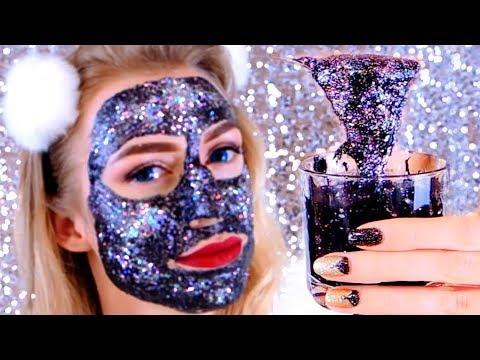 DIY #GlamGlowGlitter Черная маска с глиттером  ГЛЭМГЛОУ ГЛИТТЕР МАСКА GLITTER GLAMGLOW FACE MASK