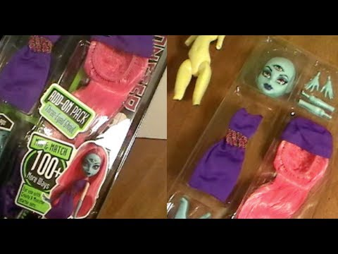 Monster High THREE-EYED GHOUL Create-a-Monster Add-On Pack Review! by Bin's Toy Bin