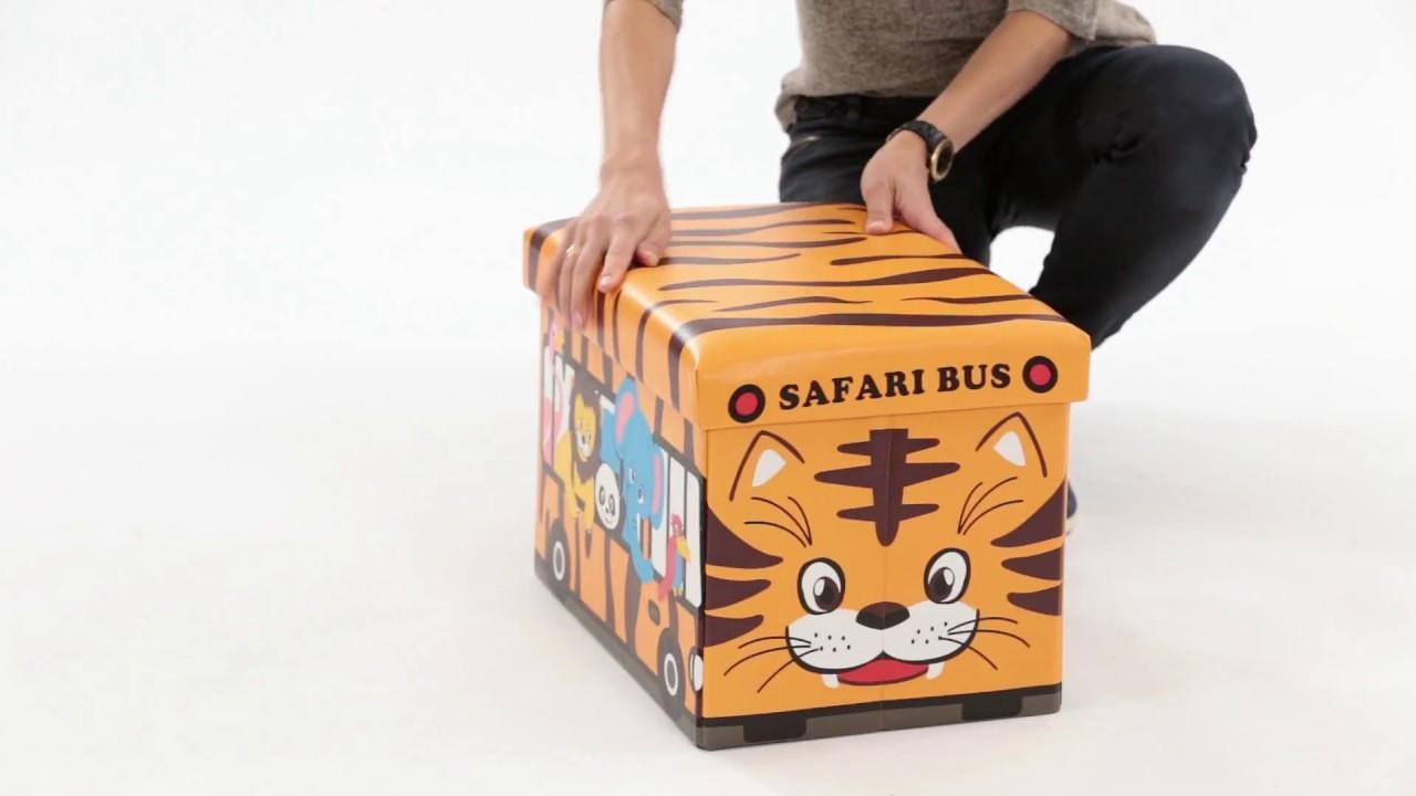 Video von: Faltbare Spielzeugkiste mit Stauraum
