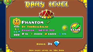 Geometry Dash [2.1] | Daily Level 13/02/17 | Phantom by TheRealSalad (3 coins)