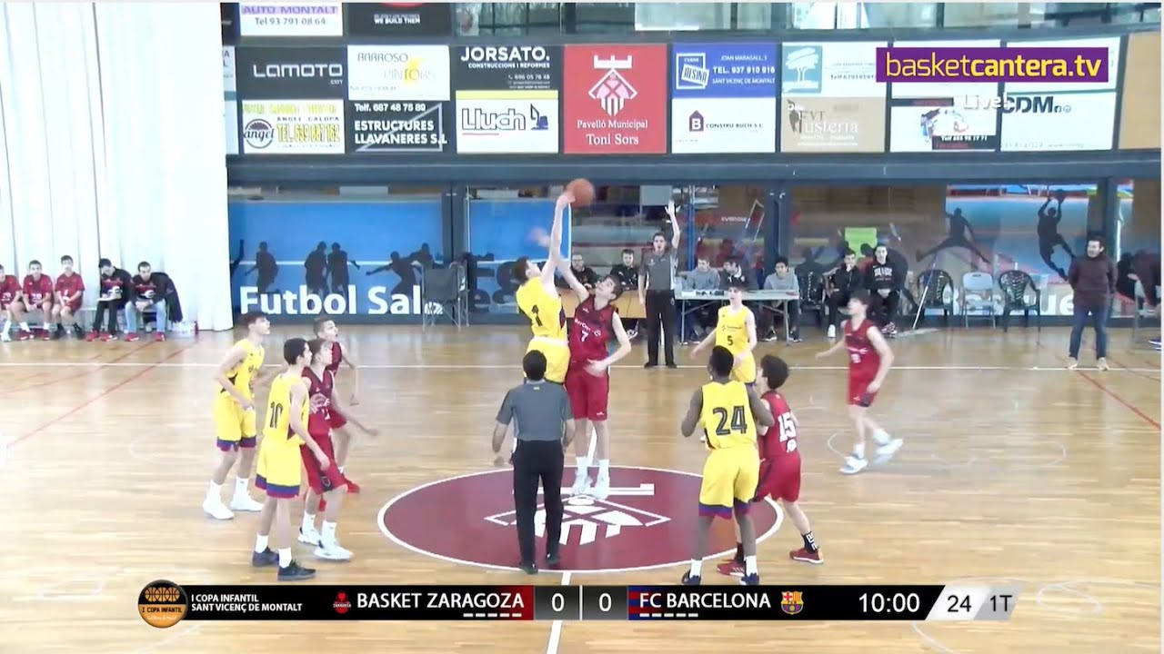 U14M - BASKET ZARAGOZA vs FC BARCELONA. I Copa Infantil Sant Vicenç de Montalt (BasketCantera.TV)