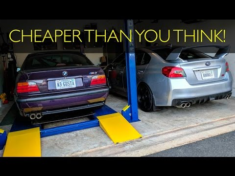 What does it COST to put a LIFT in YOUR GARAGE?