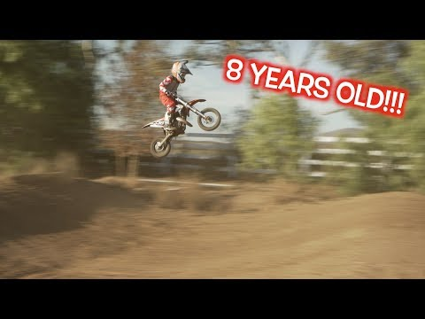 8 YEAR OLD RIDING SUPERCROSS!?!?