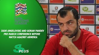 Igor Angelovski And Goran Pandev Pre-march Conference Before Match Against Armenia