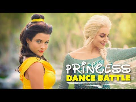 PRINCESS DANCE BATTLE! Belle vs Elsa! // (Full Frame + New Song) (видео)