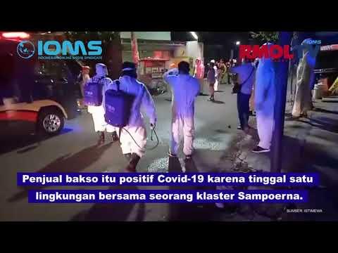 Usai Layani Pembeli, Penjual Bakso Keliling Positif Corona Dijemput Hunter Covid Surabaya