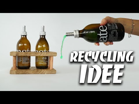 RECYCLING IDEE - DIY Flasche upcycling selber machen | EASY ALEX